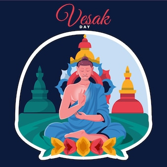 Illustration détaillée de la journée vesak