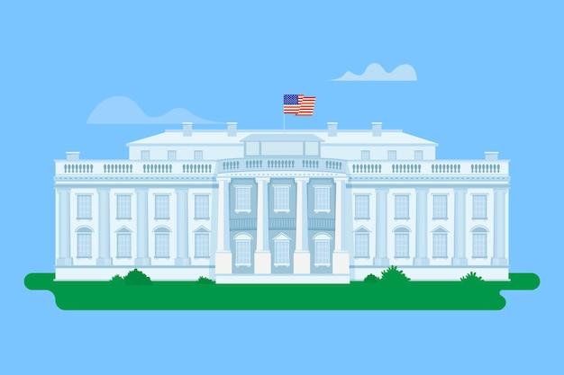 Illustration détaillée de la maison blanche