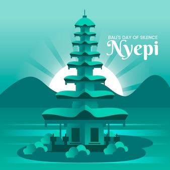 Illustration détaillée de nyepi