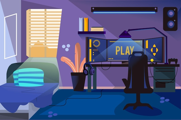 Illustration détaillée de la salle des joueurs