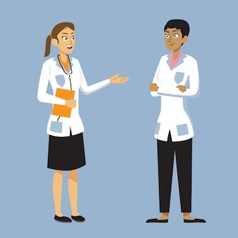 Illustration de deux femmes médecin