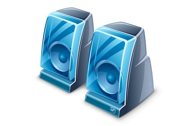 Illustration de deux haut-parleurs