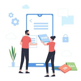 Illustration de développement d'applications