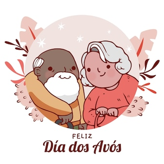 Illustration de dia dos avos dessiné à la main