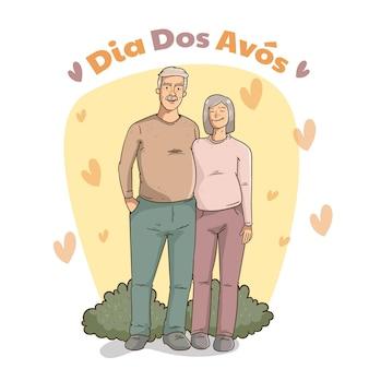 Illustration de dia dos avos dessiné à la main