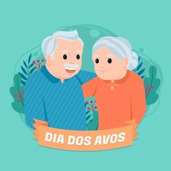 Illustration de dia dos avos