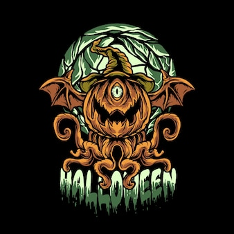 Illustration de diable halloween