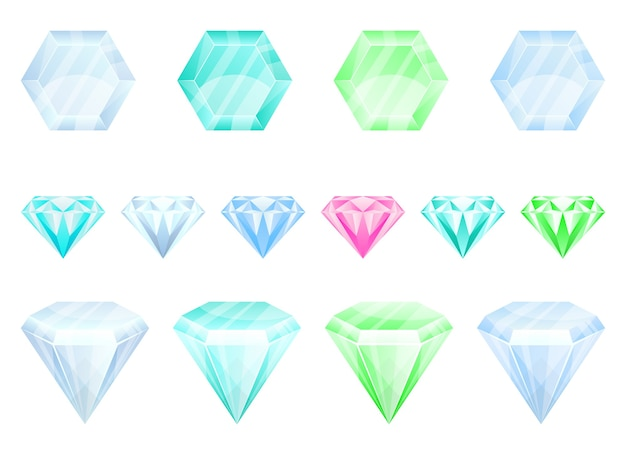 Illustration de diamant isolé sur fond blanc