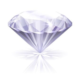 Illustration de diamant réaliste de vecteur