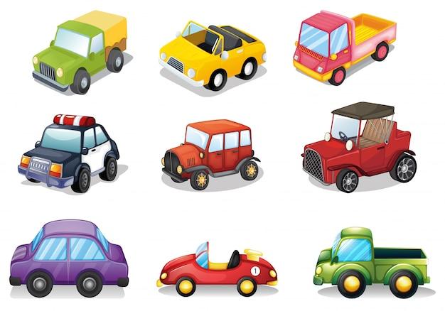 Illustration de différents types de jouets
