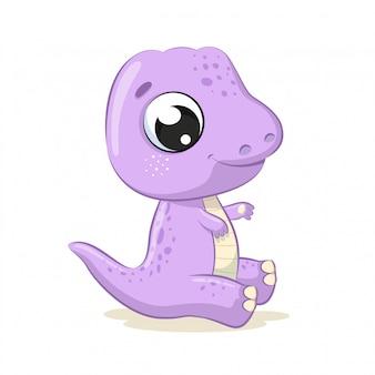 Illustration de dinosaure bébé mignon.