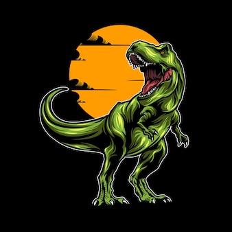 Illustration de dinosaure avec colo solide