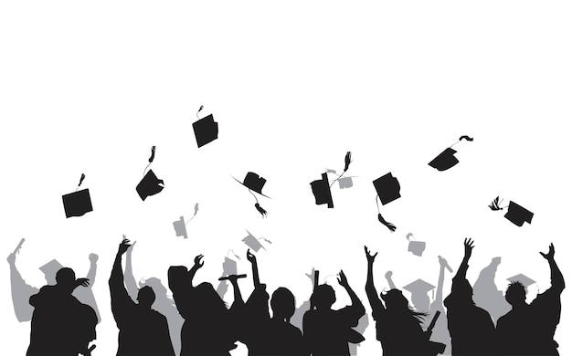 Illustration des diplômés universitaires