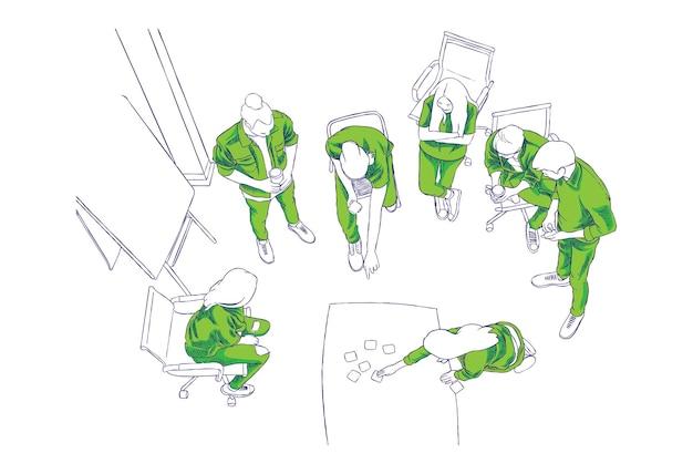 Illustration de discussion de groupe
