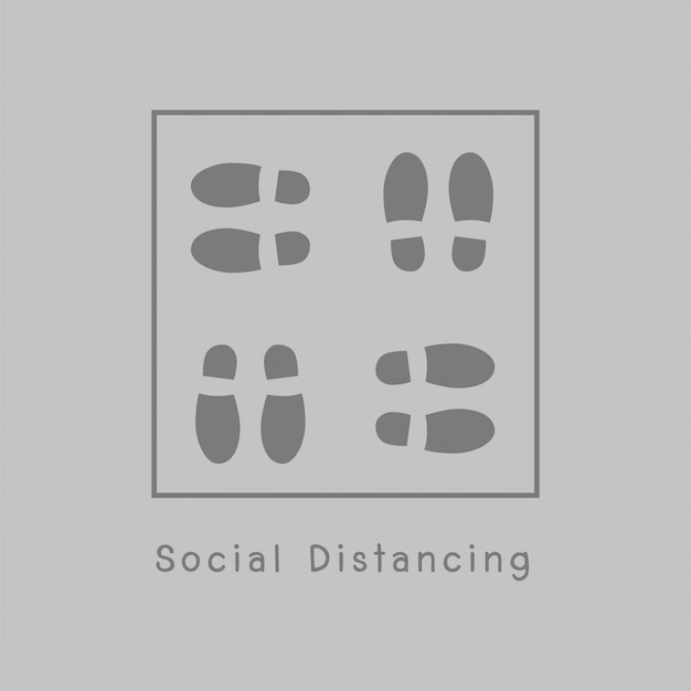 Illustration de la distanciation sociale