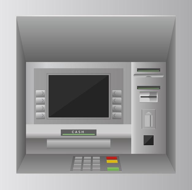 Illustration de distributeur automatique de billets de banque atm