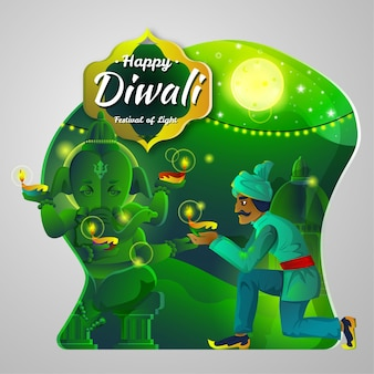 Illustration de diwali