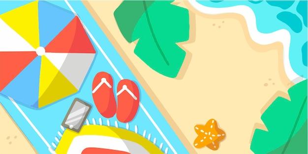 Illustration de doodle de bannière de vacances dété esthétique