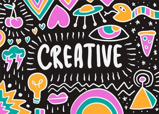 Illustration de doodle créative