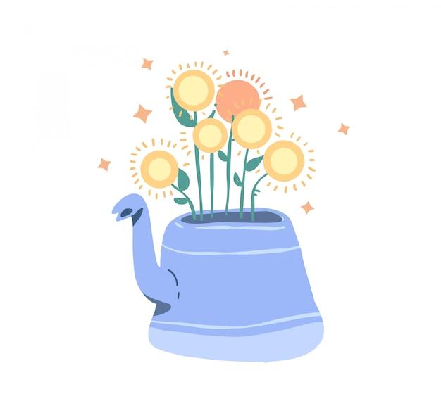 Illustration de doodle fleur
