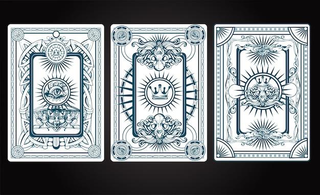 Illustration de dos de carte de jeu