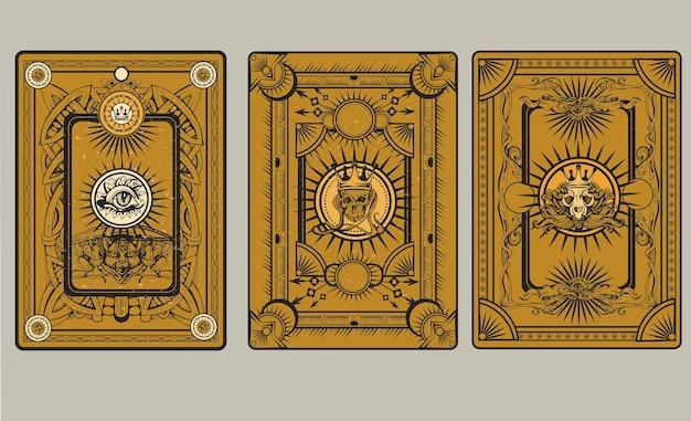 Illustration de dos de carte à jouer