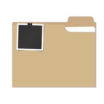 Illustration de dossier de fichier isolé avec photo