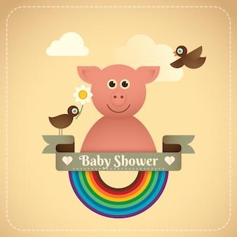 Illustration de la douche de bébé