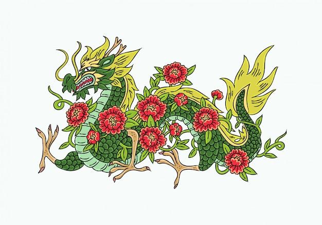 Illustration de dragon d'asie