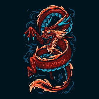 Illustration de dragon chinois