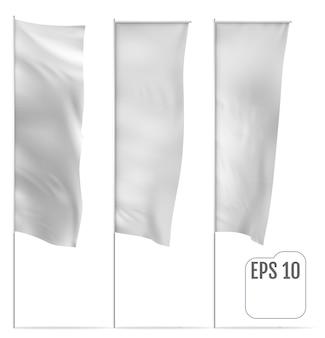 Illustration de drapeau bannière classique blanche