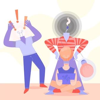 Illustration de droits d'auteur de plagiat