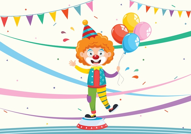 Illustration de drôle de clown