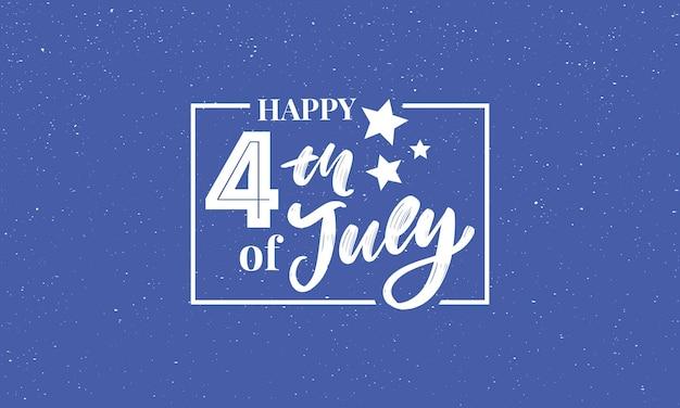 Illustration du 4 juillet fond avec drapeau américain
