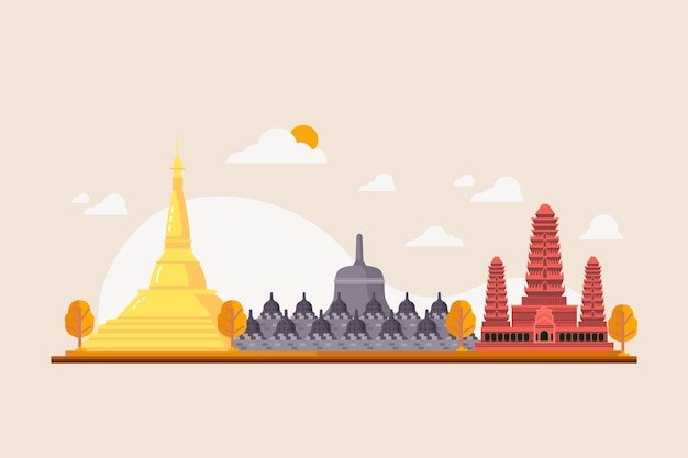 Illustration du bâtiment de l'asean