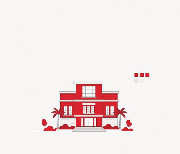 Illustration du bâtiment de l'école
