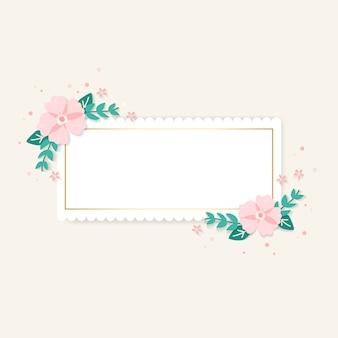 Illustration du cadre floral de printemps