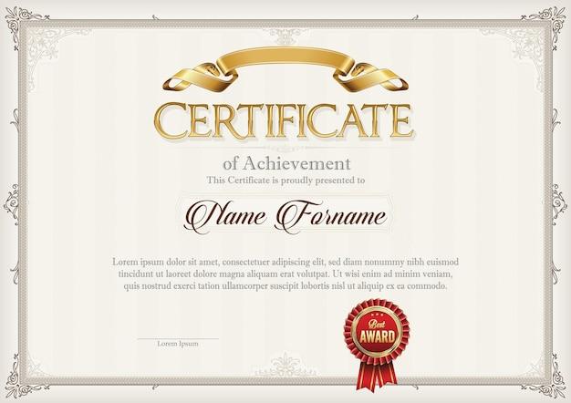 Illustration du certificat de réussite