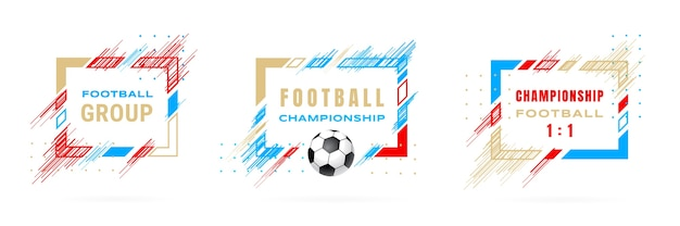 Illustration du championnat de football coupe de football