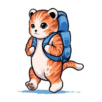 L'illustration du chat d'aventure
