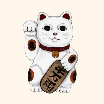 Illustration du chat chanceux japonais