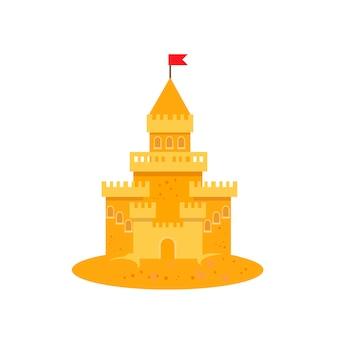 Illustration du château de sable au bord de la mer