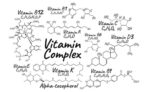 Illustration du complexe de vitamines
