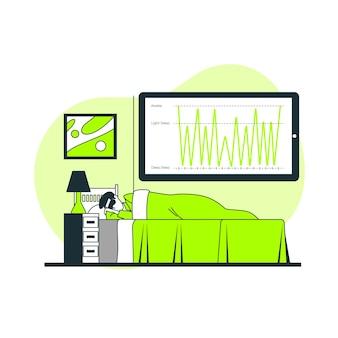 Illustration du concept d'analyse du sommeil