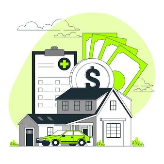 Illustration du concept d'assurance