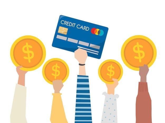 Illustration du concept de banque financière
