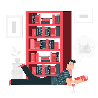 Illustration du concept bibliophile