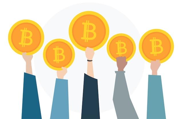 Illustration du concept de bitcoin