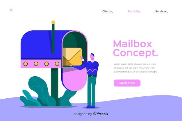 Illustration du concept de boîte aux lettres