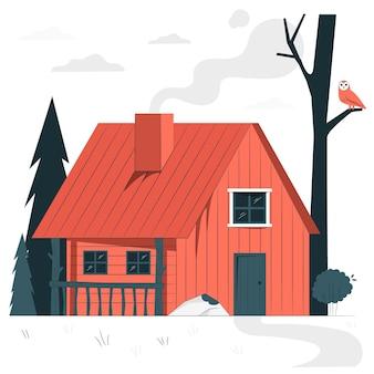 Illustration du concept de cabine